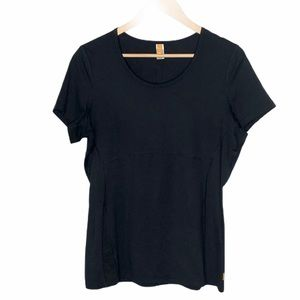 Lucy Short Sleeve Athletic Top Black Size L